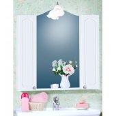 Зеркало для ванной с двумя шкафчиками Бриклаер Лючия 85